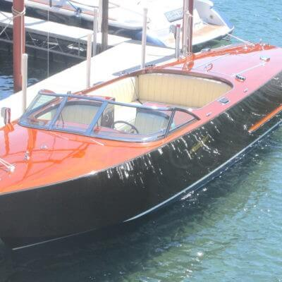 The contemporary Sport Boat model by Hacker Boat Company
