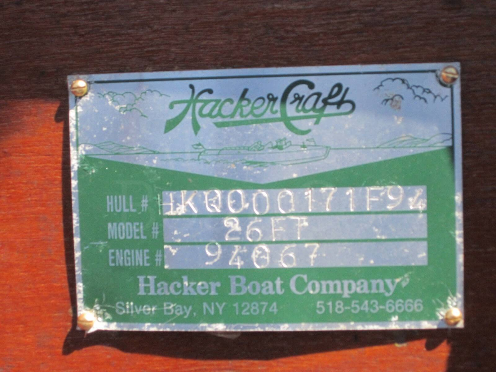1994 Hacker-Craft 26ft Runabout- SOLD