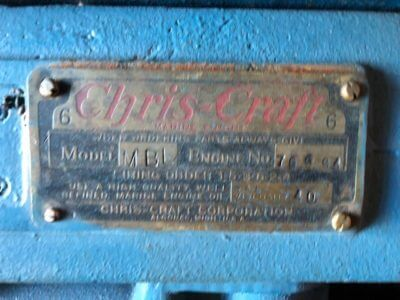 1948 Chris Craft 19ft Racing Runabout